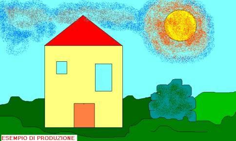 Disegnare una casa con matita e forme geometriche